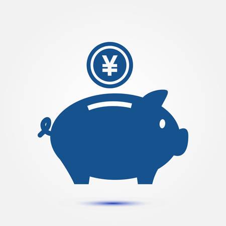 savings account: Piggy bank money. Illustration