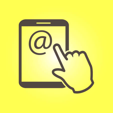 10 fingers: Touchpad sign symbol.