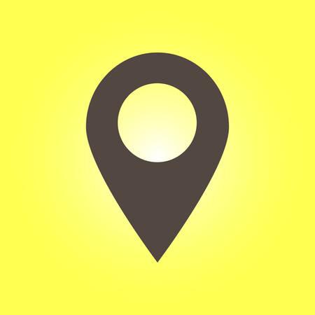 Location sign symbol. Illustration