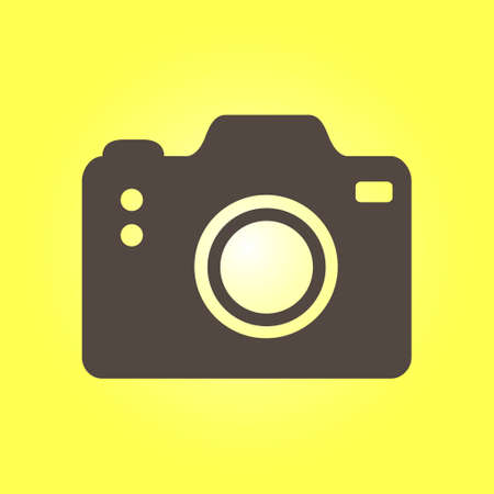capturing: A Photo camera symbol. DSLR camera sign icon. Digital camera. Flat design style.