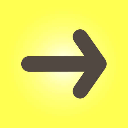 Arrow icon Pointer direction for land navigation.