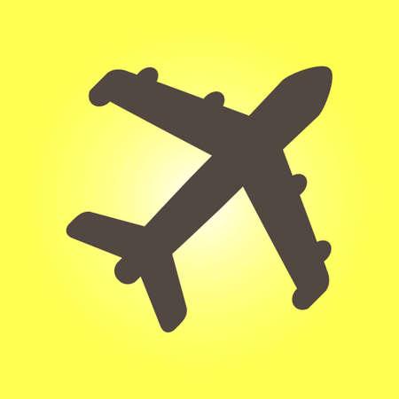 Plane sign symbol.