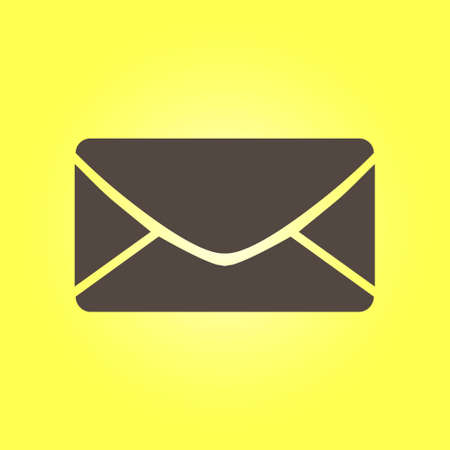 Flat mail icon.