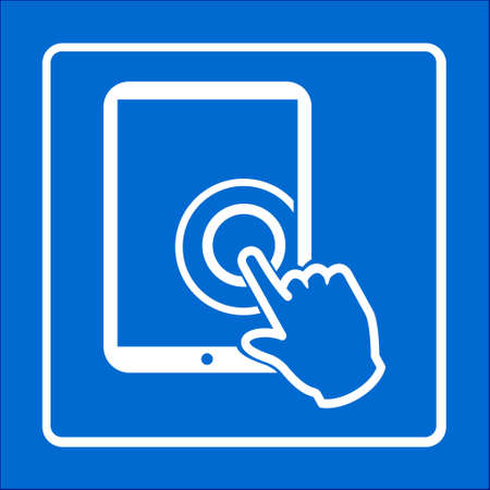 touchpad: Touchpad sign symbol.