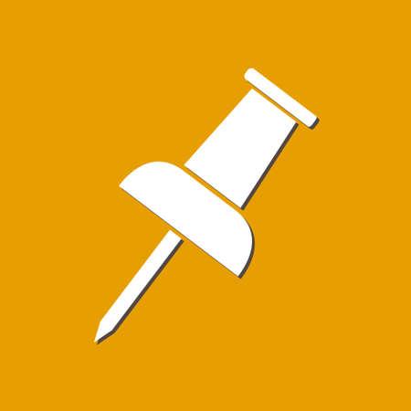 Push pin icon. Illustration