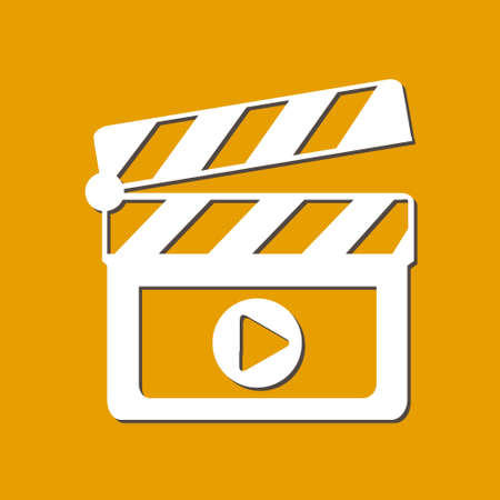 Film maker clapper board  icon.