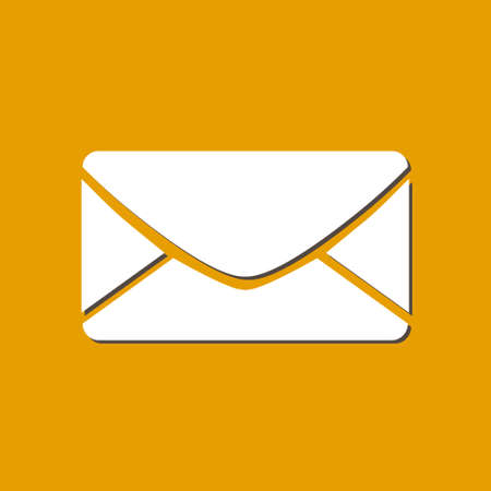 Flat  icon of letter.Mail icon. Vector symbol. Illustration