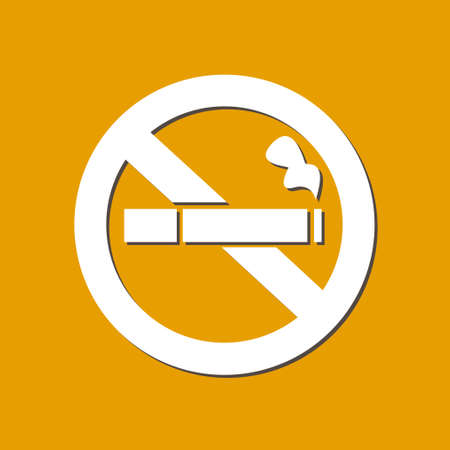 No Smoke Icon Stop Smoking Symbol Vector Illustration Filter