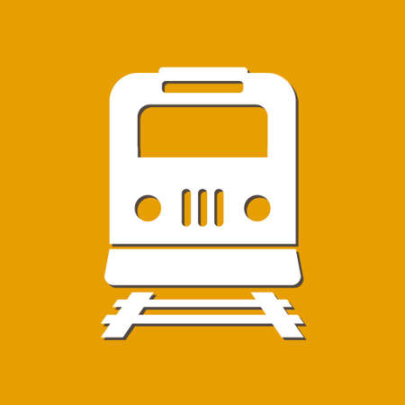 depot: Train icon illustration.