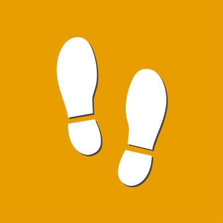 黒奥付裏靴アイコン。フラットなデザイン スタイル。  イラスト・ベクター素材