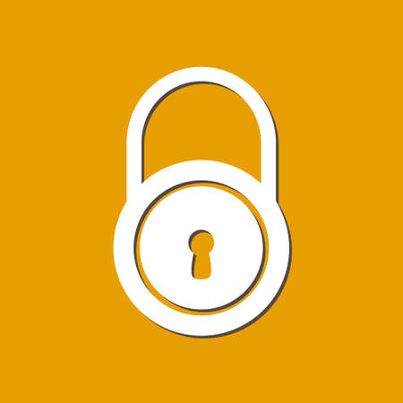 secret codes: Lock icon.  Flat design style. Access to the user. Illustration