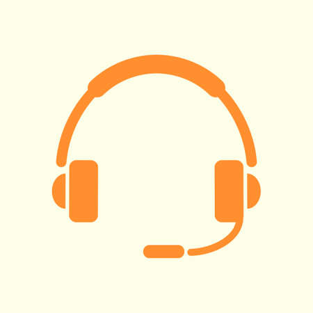 Flat icon of support. Sign the call center. Contact technical support. Call and we will reply to you.