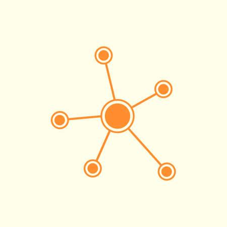 Network sign symbol. Illustration