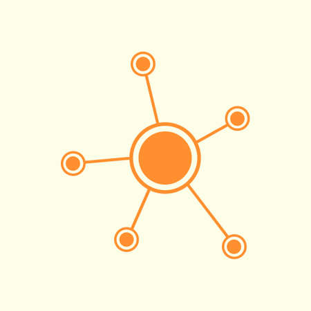 Network sign symbol. Illustration