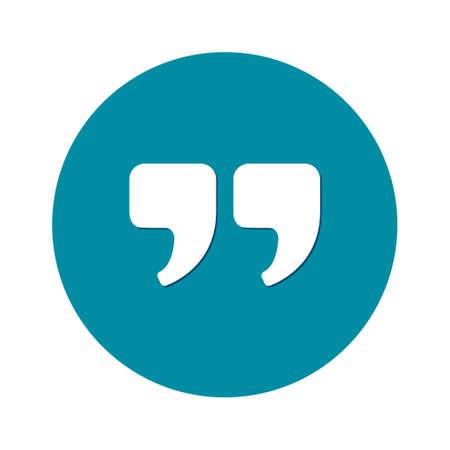 cotizacion: Speech icon. Dialog symbol. Chat quote sign.