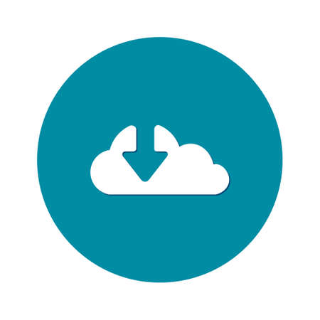 Download  from cloud icon. Upload button. Load symbol. Ilustração