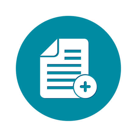 mark pen: Document  with Ok  icon. Add paper. Attach page.