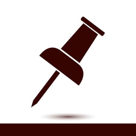 bulletin: Push pin sign symbol.