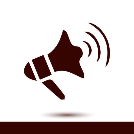 Loudspeaker sign symbol.