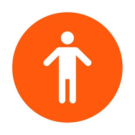 인간의 남성 기호 아이콘입니다. 남성 화장실. 플랫 스타일. 성별 기호는 생물학적 성별을 나타내는 데 사용되는 그림입니다.