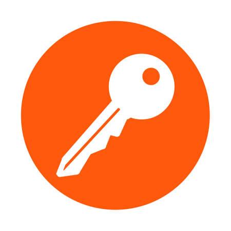 administrador de empresas: Key icon. Lock symbol. Security sign. Flat design style.
