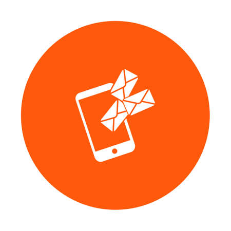 Mobile phone email or messages icon.