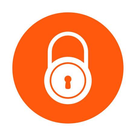자물쇠 아이콘입니다. 플랫 디자인 스타일. 사용자에 대한 액세스.