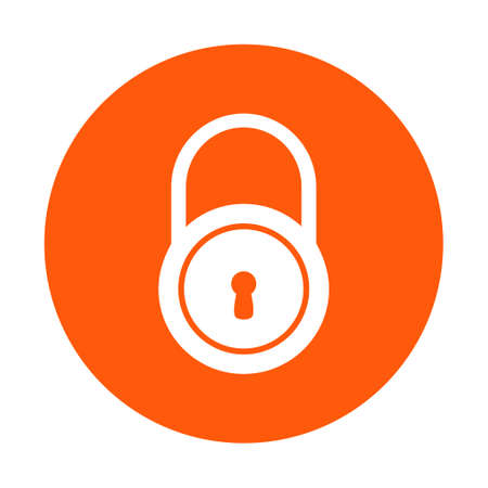 Lock icon.  Flat design style. Access to the user. Ilustrace