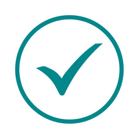 Icono de marca de verificación. Vector de estilo de diseño plano. Ilustración de vector