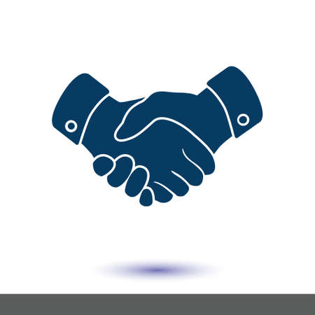 Handshake sign icon. Illustration