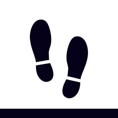 Shoe print symbol. vector illustration.