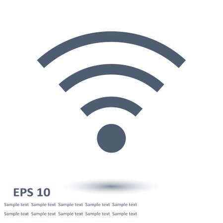 Vector wireless network icon flat design style. Illustration
