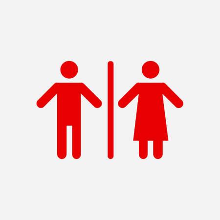 WC-Zeichen-Symbol. Vektor-Illustration.