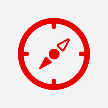 compass rose: Vector compass icon. Orientation in the locality. Flat design style.