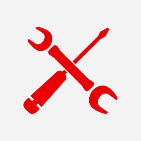 singn: Repair Icon. Service  symbol. Tools singn. Flat design style. Illustration