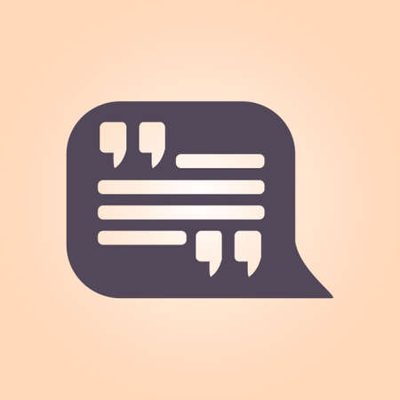 Quote Icon Quotation Mark In Speech Bubble Symbol Direct Oration