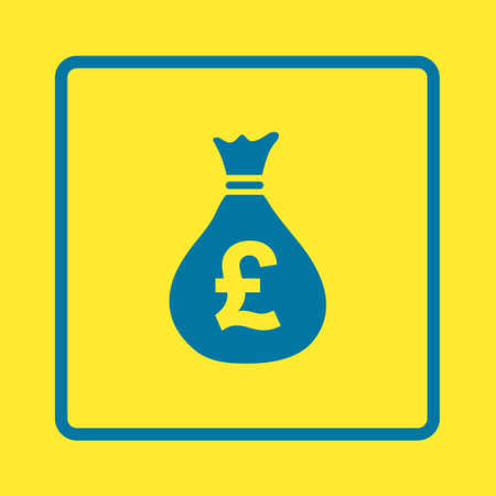 moneybag: Pound GBP currency symbol. Flat design style. Illustration