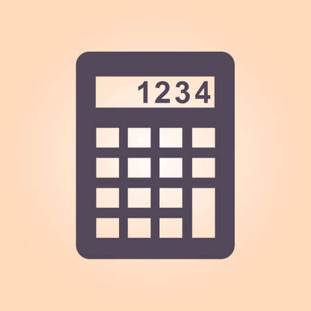 Calculator sign symbol. Illustration