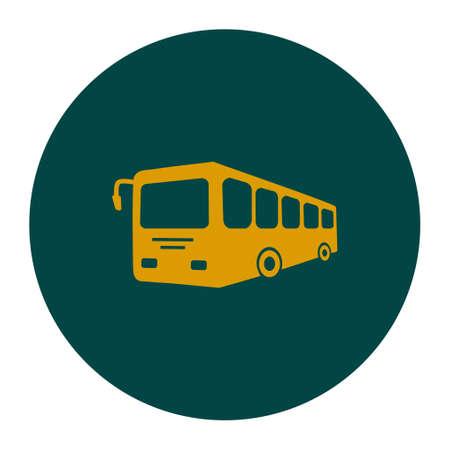 schoolbus: Bus sign icon. Illustration