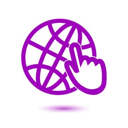 flat earth: Globe sign symbol.