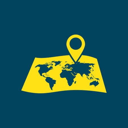 navigator: Map navigation symbol. Illustration