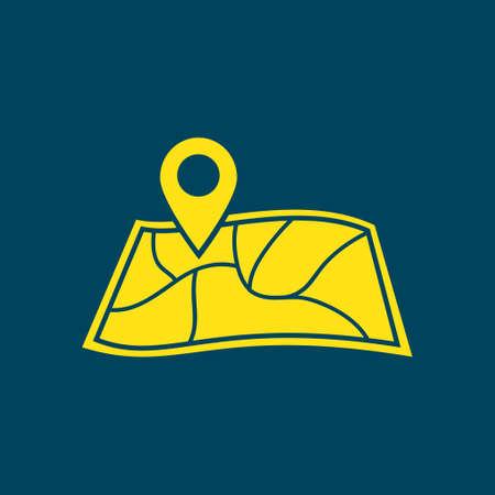 Map navigation symbol. Illustration