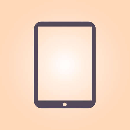 lcd display: Modern digital tablet PC icon. Flat design icon. Illustration