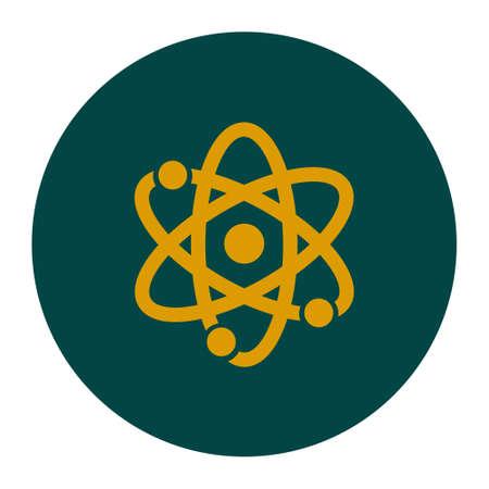 atomic energy: Atom sign symbol. Atom part icon. Flat design style. Illustration