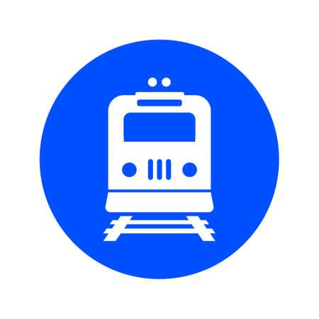 Icono del tren. Metro símbolo. Señal de la estación de ferrocarril. Foto de archivo - 84899539