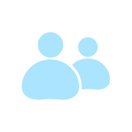 People or social sign icon. The leader and his follower. Illustration