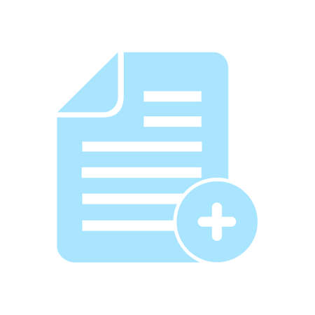 Document  with Ok  icon. Add paper. Attach page.