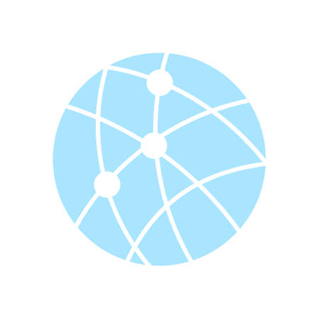 globe grid: Global technology or social network icon sign symbol.