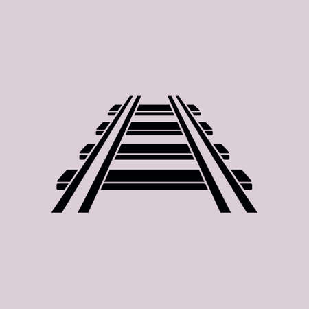 Railroad icon. Train sign. Track road symbol.