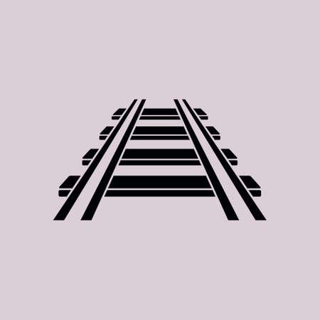 Railroad icoon. Treinspoor. Spoorweg symbool.